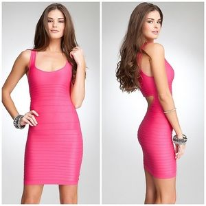 Bebe Bodycon Bandage Pink Dress
